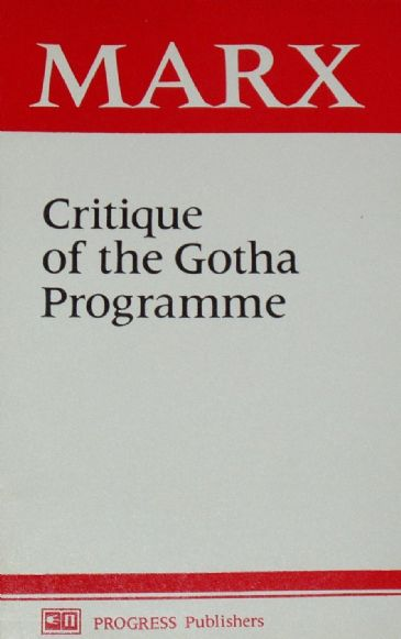 Critique of the Gotha Programme, by Karl Marx